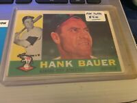 1960 TOPPS Hank Bauer Kansas City Athletics 1960 Topps Vintage Trading Card #262