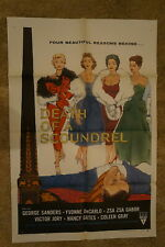 DEATH OF A SCOUNDREL  SEXY ZSA ZSA GABOR  YVONNE DECARLO   1 SHEET 1956