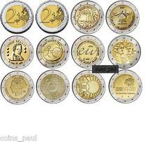 Belgium 2 euro 10 coins 2007 - 2014, UNC Belgio Belgica belgique Бельгия FDC