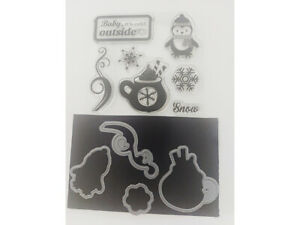 Baby It's Cold Outside Clear Stamp Set with Matching Dies