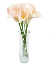 64CM CALLA LILY - PINK/YELLOW - ARTIFICIAL/FAKE/DECORATION/POSY- FEELS REAL