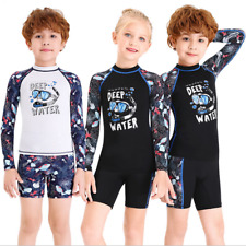 Kids Children Diving Tops+Shorts Set Diving Suits Youth Boy Girl Scuba Wetsuits