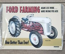 Ford Farming Sign 8N Tractor Farm Equipment Vintage Metal New Old Stock
