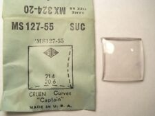SUC MS127-55 GS MX324-20 Watch Crystal 21.4 x 20.6 mm FITS GRUEN CAPTAIN CURVEX