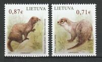 Lithuania 2015 Fauna Animals 2 MNH stamps