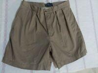 Polo Ralph Lauren Pleated Classic Chino Cotton Shorts Men's 31  Beige Khaki