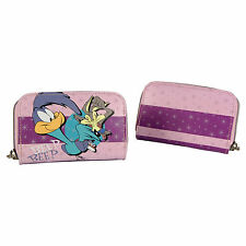Road Runner Zip Purse Wile E Coyote Looney Tunes Womens Card Wallet Clutch
