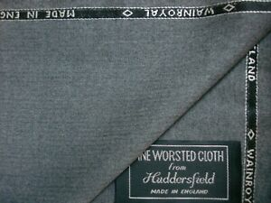 WAIN SHIELL 100% WOOL SUITING, JACKETING FABRIC - MADE IN ENGLAND – *See Below*