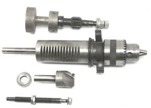 Delta Model 11-950 Type 2 Drill Press Quill Assembly + Chuck + Drill Bit