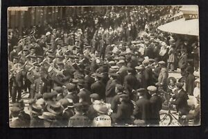 Christchurch - Funeral Procession for King Edward VII -  real photographic p/c.