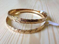 Bollywood Wedding Bridal Gold Plated Round Bracelet Bangle 2 Pc Set