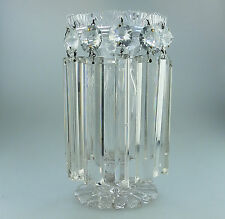 Antique Cut Crystal Glass ; A good Victorian Table Lustre C.19thC