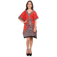 Kaftan Tunic Kimono Dress Ladies Summer Boho Women Evening Short Party Top