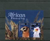 Gambia 2014 MNH African Birds of Prey II 2v S/S Harrier Secretary Bird Stamps