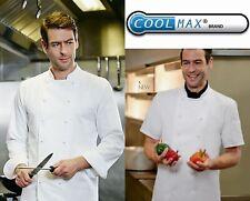 More details for simon jersey coolmax chef unisex jacket chefs whites long & short sleeve