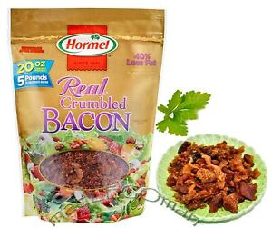 1 PACK FRESH ORIGINAL HORMEL REAL CRUMBLED BACON 20 OZ/567 G BEST BY JULY 2021