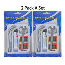 24pc Bike Tire Repair Kit Bicycle Cycle Tube Puncture Patch Levers Spanner Tool