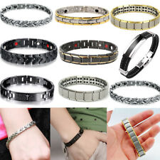Unisex Titanium Steel Magnetic Arthritis Therapy Energy Bracelet Men Health Care