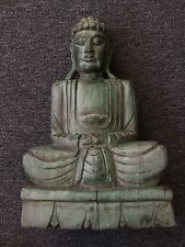 Old Ancient wood carved Buddha head