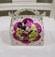 Party : Minnie Mouse Donut Munchkin Box Gift Loot Bag 12 pcs