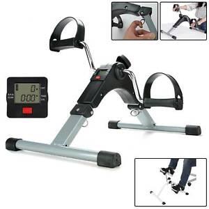 Folding Pedal Exerciser Mini Arm Leg LCD Exercise Bike Foot Hand Cycle Peddler