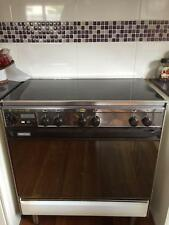Eurolec 800mm stove 5 burners & glass fold down Lid. Grill inside large oven
