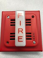 FOS 6120 FIRE ALARM WALL MOUNT SPEAKER AUDIO/VISUAL 21-30 VOLTS DC