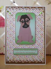 Handmade Belgian Malinois Puppy Birthday Card Happy Green Dog Shepherd Large