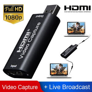 Audio Video Capture Card HDMI to USB 1080p Record via DSLR Camcorder Action Cam
