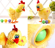 "12"" Electric Hen Musical Dancing Laying Eggs Funny Educational Kids Toy"