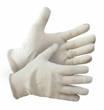6 PAIRS - WHITE COTTON MEDIUM WEIGHT GLOVES ROPING, MOVING, CAR DETAIL, ANTIQUES