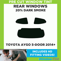 Pre Cut Window Tint - Toyota Aygo 5-door Hatchback 2014+ - 20% Dark Rear