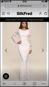 Honour Gold Wedding Dress Size XS