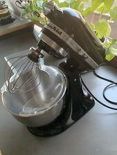KitchenAid Artisan, 5KSM150 Schwarz, 300 Watt, Gemüsetrommeln, Rezeptbuch