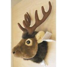 "11"" Elk Head Plush Stuffed Animal Toy"