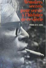 PIERRE-JEAN RÉMY mémoires secrets.. 1975 club francais+
