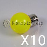 10 x Bombilla 1W LED E27 Amarillo 220V 90 lumen Decoracion, ambiente... SMD 3014