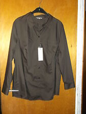 My Way FER Collared Tailored Long Sleeve Shirt/Blouse 22 Chocolate Brown BNWT