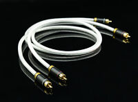 High End MPS M-4 2 RCA to 2 RCA Audio Cable,Sliver Plated 6N OFC Hi Fi 99.99997%
