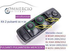 pulsanti alzacristalli pulsantiera Mercedes classe A B GL ML R 2 pezzi Kit Sx+sx