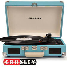 Crosley CR8005D-TU Cruiser Bluetooth Deluxe Turntable Record Player - TURQUOISE
