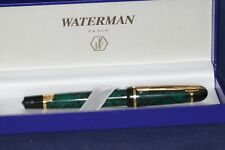Waterman Phileas Roller ball, green/marble GT, box, refill, rare. Look