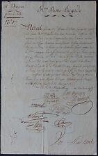 Général de MERLHIAC autographe 1802