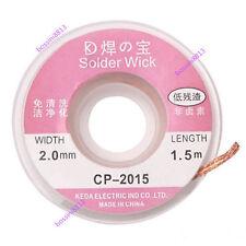 Durable 2.0mm Desoldering Braid Solder Remover Wick Copper Spool Wire Cable CA