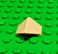 Light Gray LEGO Double Inverted 45° Slope Brick w/no Studs (Used 2x1 Part# 3049b