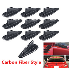 10PCS AIR VORTEX GENERATOR/DIFFUSER FIN FOR SPOILER ROOF WING TRUNK CARBOM LOOK