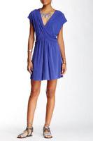 Free People Cobalt Criss Cross Cap Sleeve Dress - Size Large NWT $128