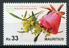 Mauritius Flowers Stamps 2020 MNH Diplomatic Relations with Australia 1v Set