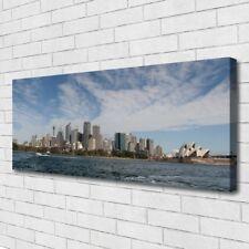 Leinwand-Bilder Wandbild Canvas Kunstdruck 125x50 Stadt Meer Gebäude