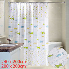 Polyester Shower Curtain Extra Wide And Long 240 X 200/200 X 200 12 Hooks
